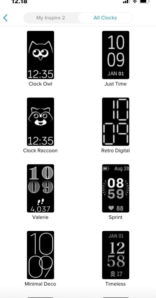 Urskiver Fitbit Inspire 2