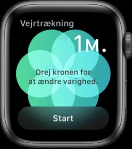 Apple Watch vejtrækning